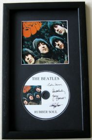 THE BEATLES - Rubber Soul CD Disc MEMORABILIA presentation